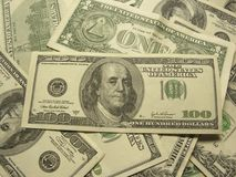 Close-up dos dólares Foto de Stock Royalty Free
