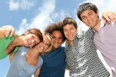 Close up dos estudantes imagem de stock