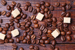 Close up dos feijões de café Imagem de Stock