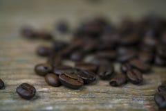 Close-up dos feijões de café Fotos de Stock Royalty Free