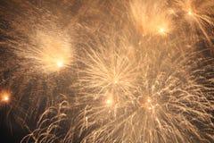 Close up dos fogos-de-artifício Imagem de Stock