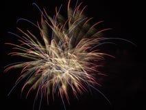 Close-up dos fogos-de-artifício Fotografia de Stock Royalty Free