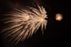 Close-up dos fogos-de-artifício Imagens de Stock Royalty Free