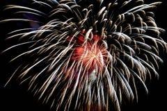 Close-up dos fogos-de-artifício Imagens de Stock