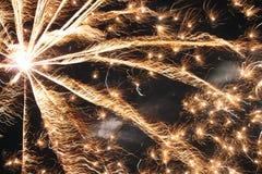 Close-up dos fogos-de-artifício Imagem de Stock