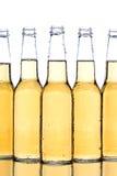 Close up dos frascos de cerveja Fotografia de Stock Royalty Free