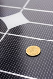 Close up dos painéis solares Fotos de Stock