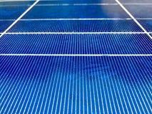 Close up dos painéis solares Foto de Stock Royalty Free