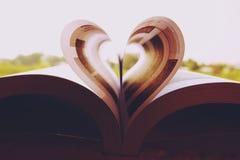 Close-up dos papéis de parede do livro do coração foto de stock royalty free