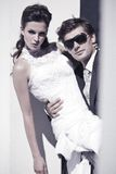 Close up dos pares do casamento fotos de stock royalty free