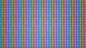 Close-up dos pixéis do monitor video estoque