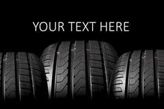Close-up dos pneus de carro Imagem de Stock Royalty Free