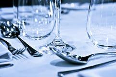 Close up dos utensílios de mesa Imagem de Stock
