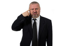 Close up of a doubtful middle aged businessman Stock Image