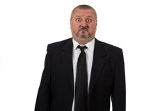 Close up of a doubtful middle aged businessman Royalty Free Stock Photo