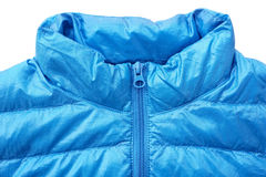 Close up of down jacket with zipper Royalty Free Stock Photography