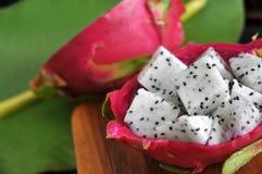 Close up dragon fruit Stock Images