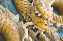 Close-up of dragon statue Royalty Free Stock Photos