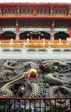 Close up of Dragons architecture in Wenwu Temple located Royalty Free Stock Images