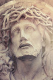 Close up dramatic statue of crucified Jesus Christ (styled vinta Stock Images