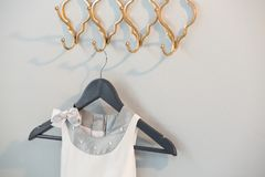 Close-up of dress hanging on hook Royalty Free Stock Photos