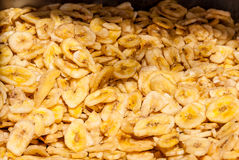 Close up of dried banana slices at Machane Yehuda Market, Jerusa Royalty Free Stock Images