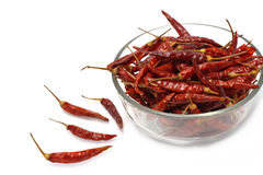 Close up of dried chilli, food ingredient Royalty Free Stock Photo