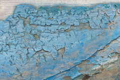 Close Up of Dried Chipped Blue Paint on Wood Stock Images