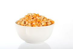 Close up of Dried corn in bowl Royalty Free Stock Photo