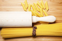 Close up of a dried italian pasta Stock Photography