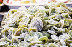 Close up of dried kiwi on the market place, food theme Royalty Free Stock Photography
