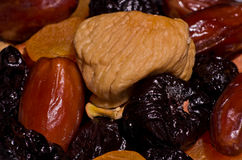 Close up of a dried mediterranean fruits Royalty Free Stock Photos