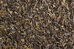 Close up of dried tea leaves Stock Photo