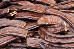 Close-up of dried vanilla pods, traditional culinary spice. Of Asian market in Istanbul, Turkey Royalty Free Stock Image