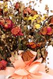 Close up of dried withered roses bouquet Stock Image