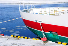 Close up of drift ice boat Royalty Free Stock Images