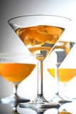 Close up of drink in martini glass Royalty Free Stock Photo