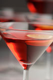 Close up of drink in martini glass Royalty Free Stock Photography