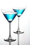 Close up of drinks in martini glasses Royalty Free Stock Images