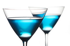 Close up of drinks in martini glasses Stock Photography