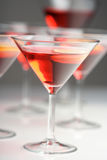 Close up of drinks in martini glasses Royalty Free Stock Photo