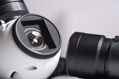 Close up of drone camera lenses Stock Image