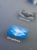 Close up of dropbox icon Royalty Free Stock Photography