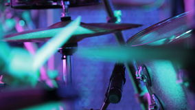 Close-up of Drummer Playing stock video