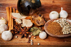 Close up of dry asian healthy spice herb Stock Image
