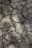 Close up of dry cracked earth. Drought land background Stock Photo