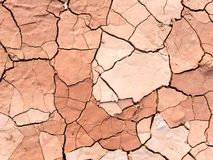 Close up of dry cracked mud on a hot day Royalty Free Stock Photo