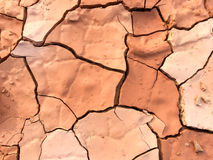 Close up of dry cracked mud on a hot day Royalty Free Stock Photos