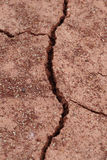 Close-up of dry dracked soil ground Stock Images