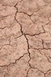 Close-up of dry dracked soil ground Stock Photo